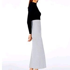 NWT Olsen light gray maxi merino wool skirt s16